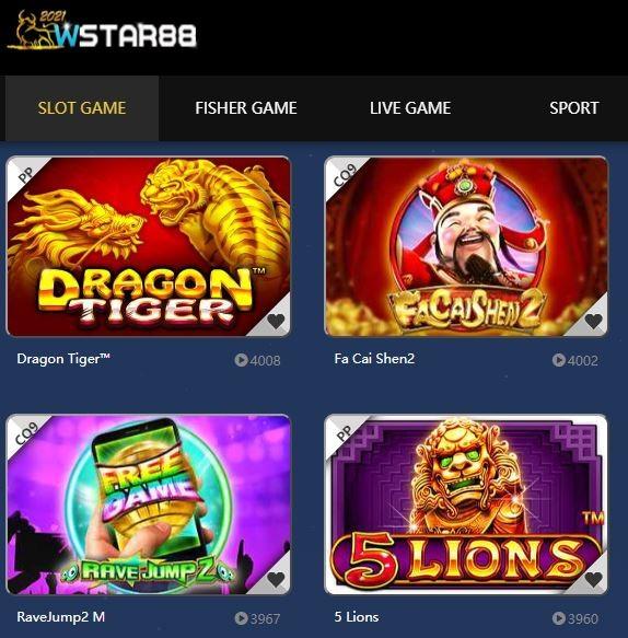 WStar88 Online Casino Games